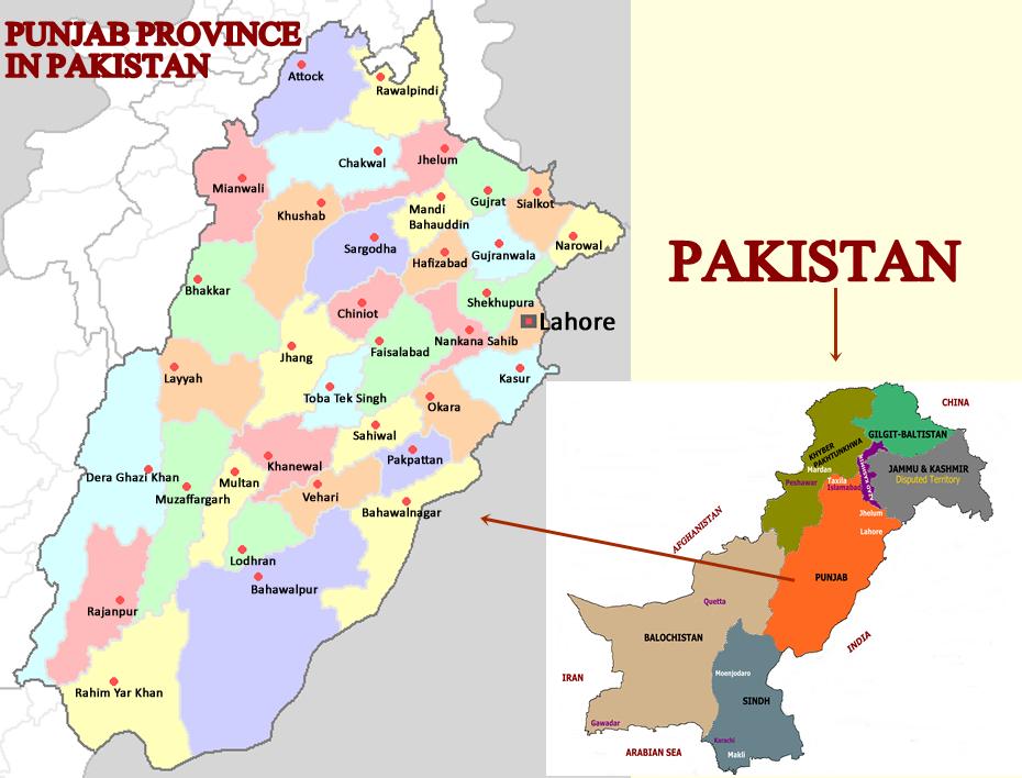 Punjab Province of Pakistan