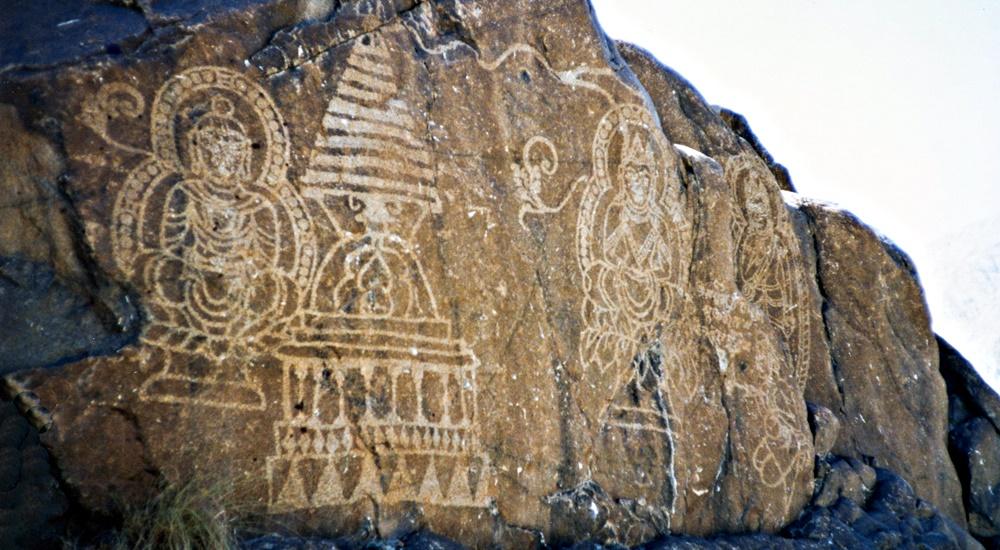 Petroglyphs in Chilas